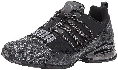 1866e4ec1b31 PUMA Men s Cell Regulate Tech Mesh Sneaker Black-Quiet Shade