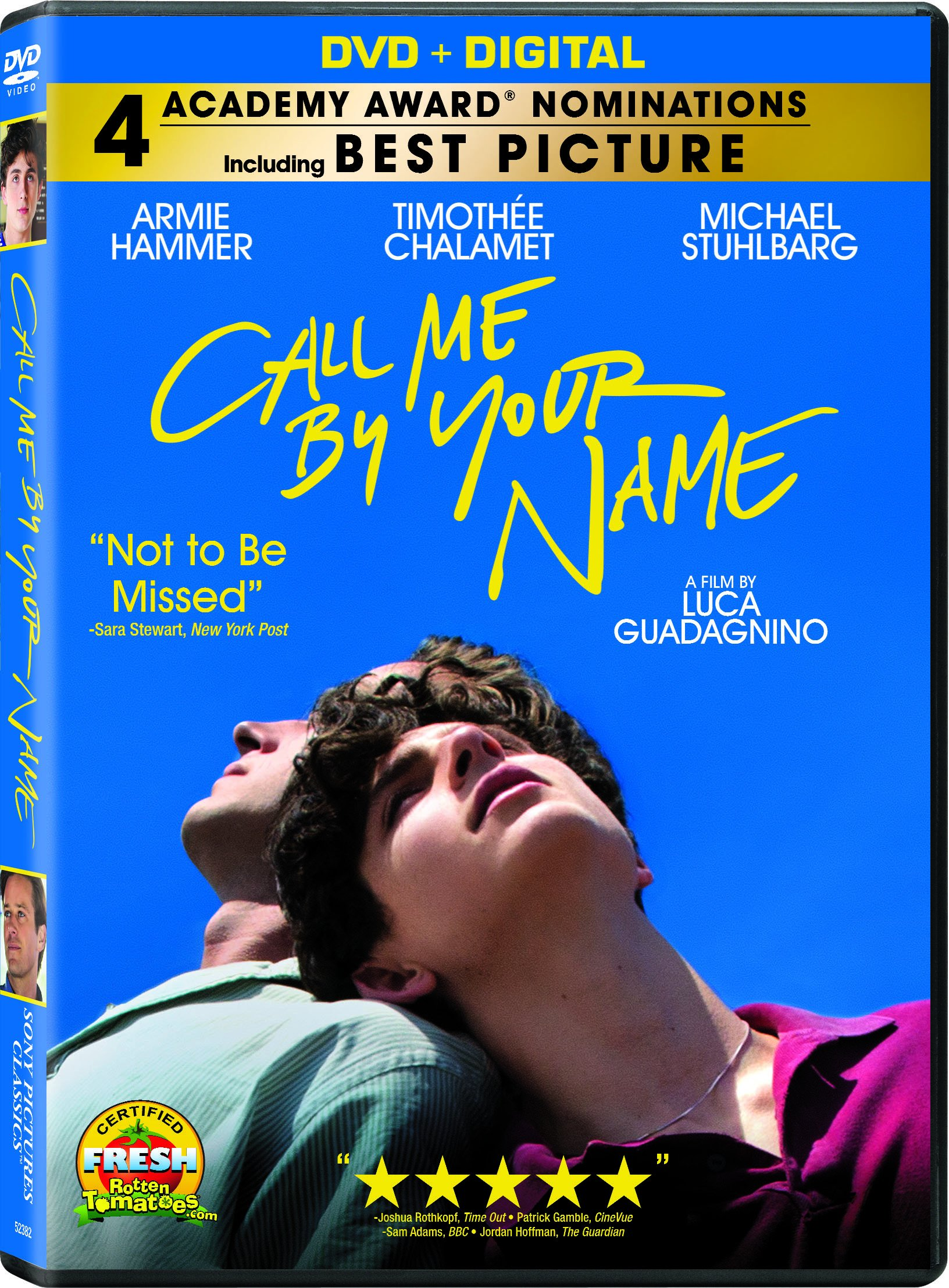 DVD : Call Me By Your Name (Widescreen, Dolby, AC-3)