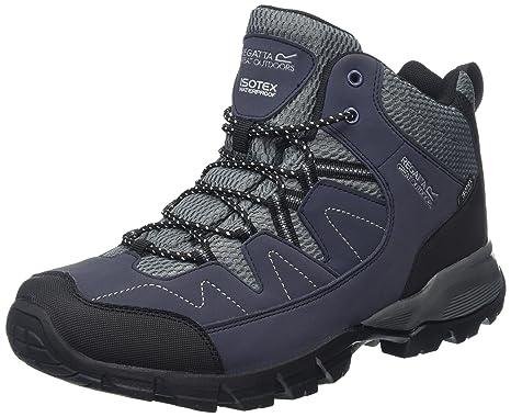 Regatta Holcombe Mid, Stivali da Escursionismo Alti Uomo, Grigio (Ash/Riored), 47 EU