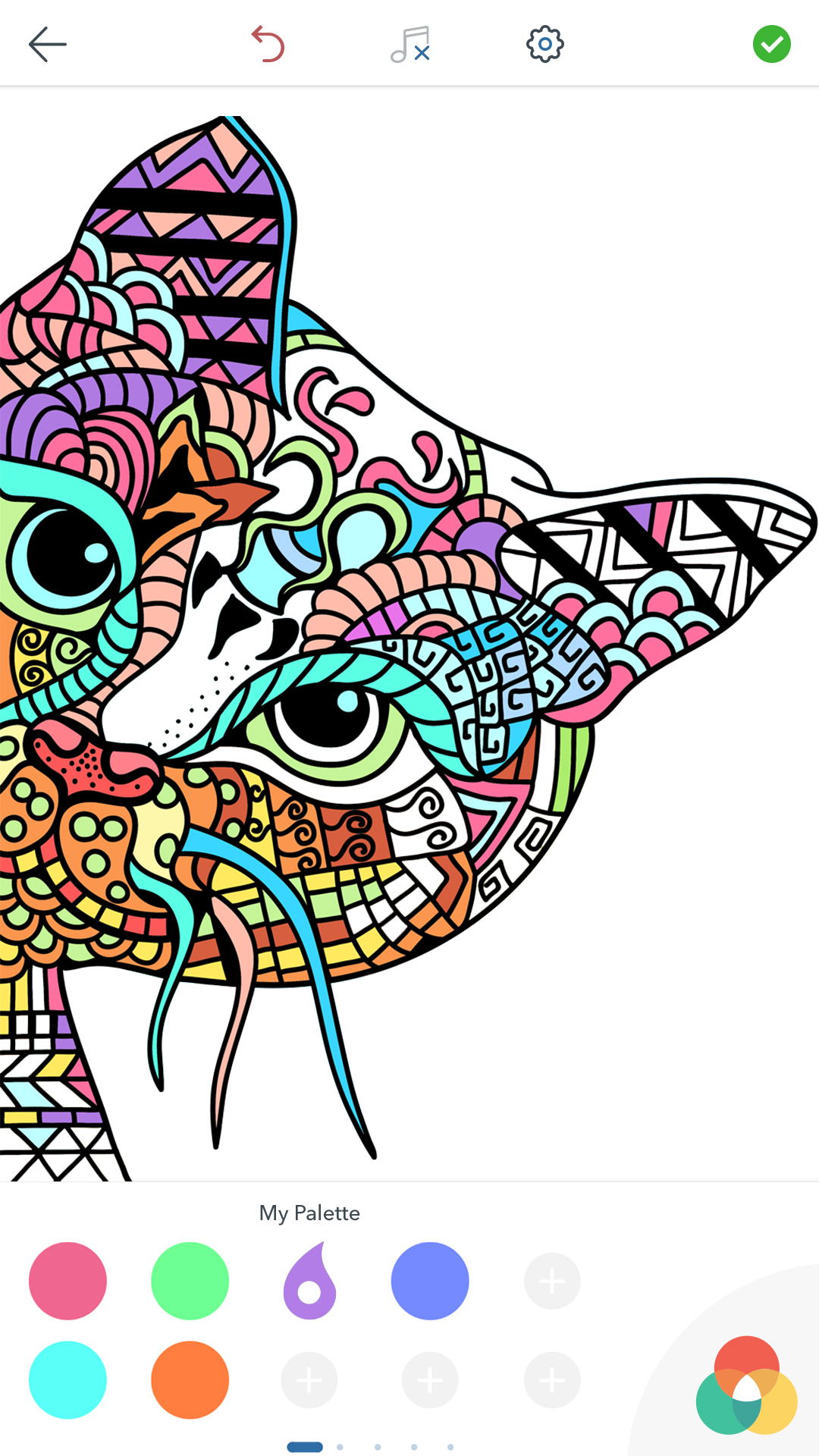 Cat coloring pages for adults appstore for Coloring books for adults on amazon