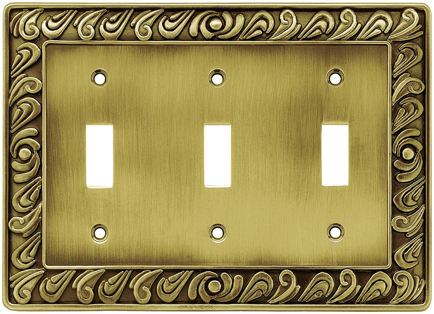 Franklin Brass 64055 Paisley Triple Toogle Switch Wall Plate/Switch ...