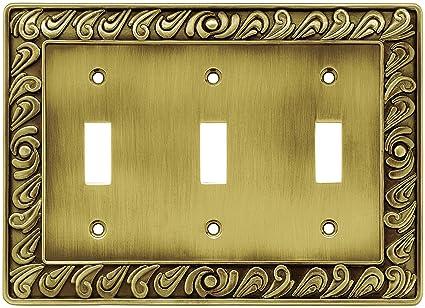 Franklin Brass 64055 Paisley Triple Toogle Switch Wall Plate/Switch ...