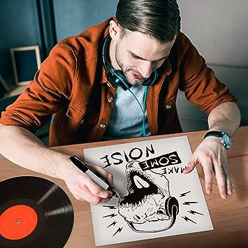 """TunePhonik sin revestimiento imprimible 12 """"LP discos de vinilo chaquetas – color blanco –"""