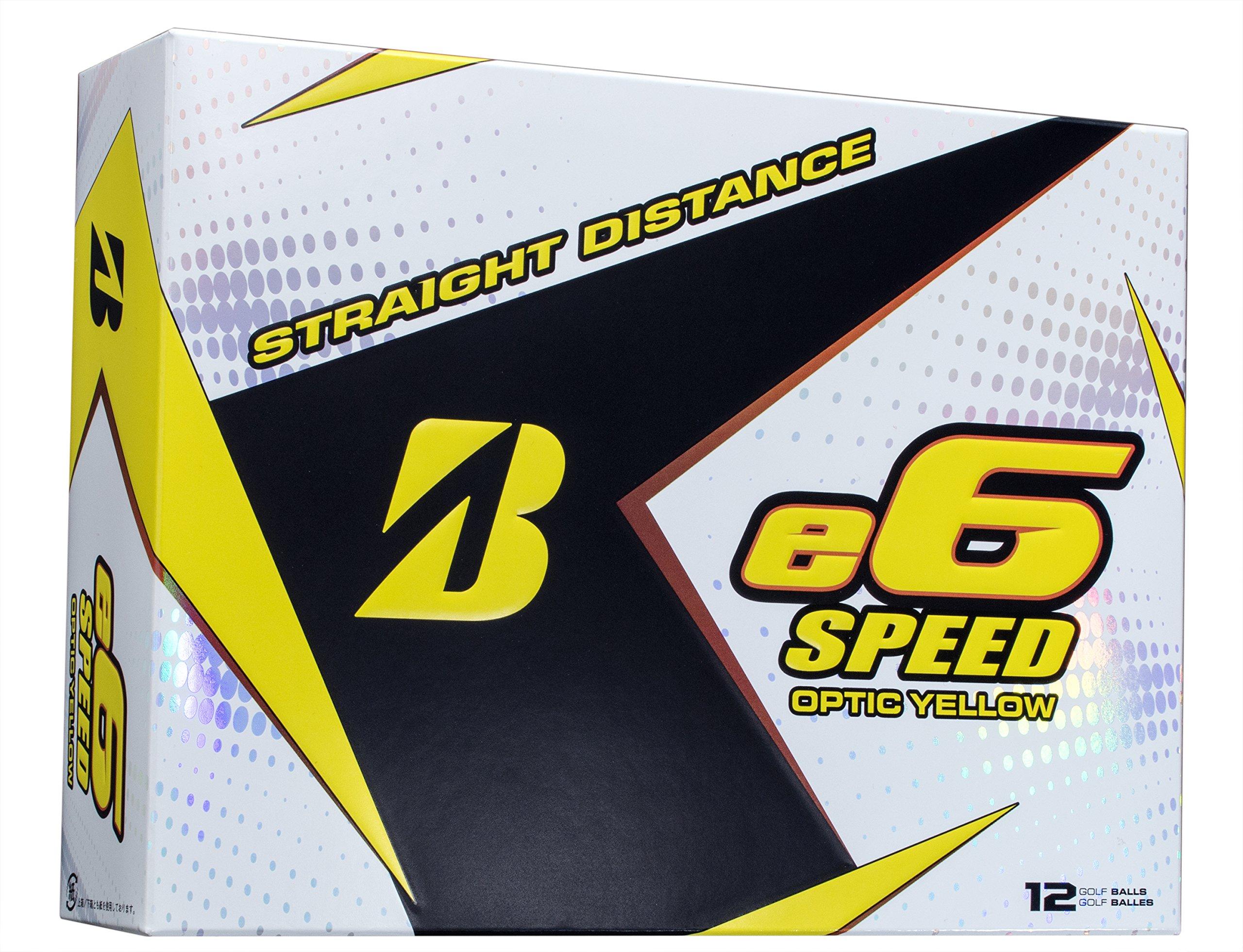 BRIDGESTONE GOLF e6 SPEED Golf Balls, Yellow, High-Performance (Dozen Golf Balls) by Bridgestone Golf