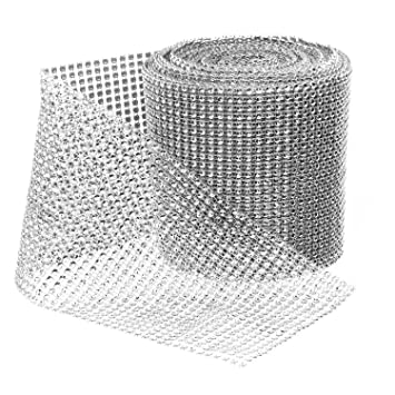 Amazon Silver Rhinestone Ribbon Diamond Bling Sparkle Wrap Bulk