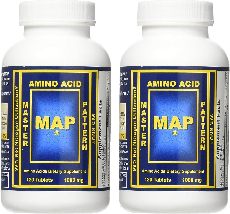 Amazon.com: Mapa patrón de 2 x master Aminoácidos 1000 mg ...