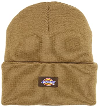 d57c074b9ea99a Dickies Men's 14 Inch Cuffed Knit Beanie Hat, Brown, One Size at Amazon  Men's Clothing store: