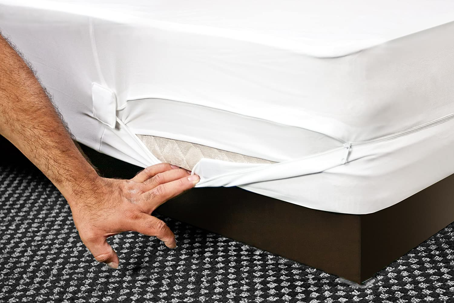 Amazon.com: The Original Sleep Defense System - PREMIUM Zippered Bed Bug & Dust  Mite Proof Box Spring Encasement & Hypoallergenic Protector - 38-Inch by ...