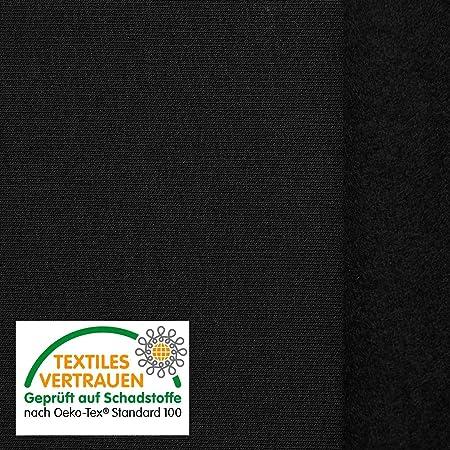 OEKO-TEX® Tela de algodón de alta calidad - Para sudaderas, ropa deportiva y mucho más - 8 colores - Por metro (Negro): Amazon.es: Hogar