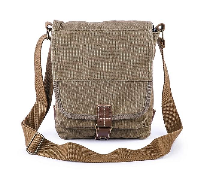 Gootium Cotton Canvas Cross Body Small Messenger Bag Shoulder Handbag fd2d7c653cc2f