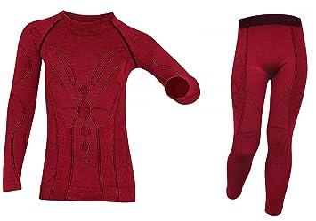 BRUBECK® Extreme Merino lana Junior gorro térmico para uso profesional de ropa interior Set,