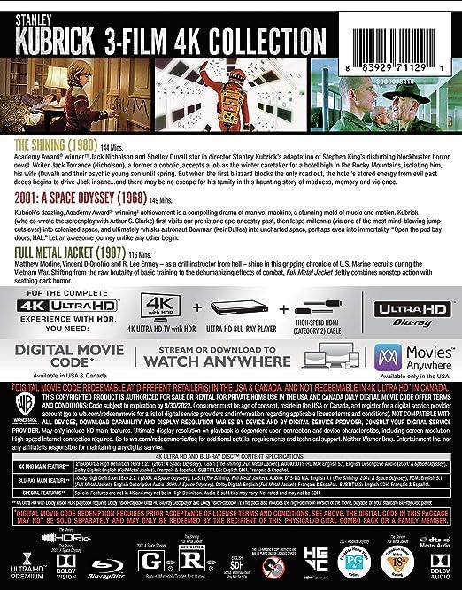 Stanley Kubrick: 3-Film Collection [USA] [Blu-ray]: Amazon.es: Cine y Series TV