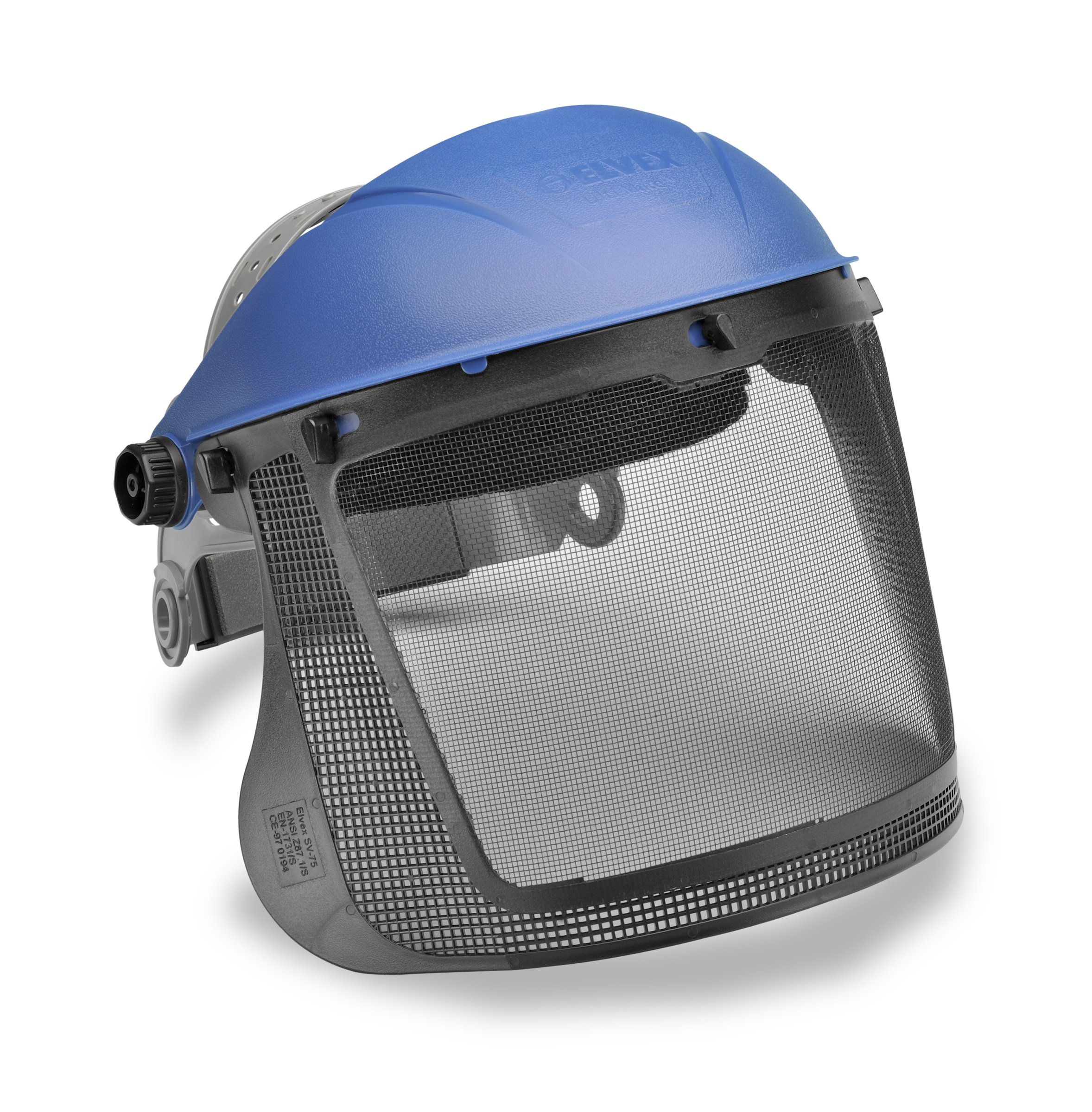 Elvex - ULTIMATE HEADGEAR SYSTEM HG-70 WITH STEEL MESH SCREEN, PIN-LOCK SUSPENSION AND FABRIC SWEATBAND