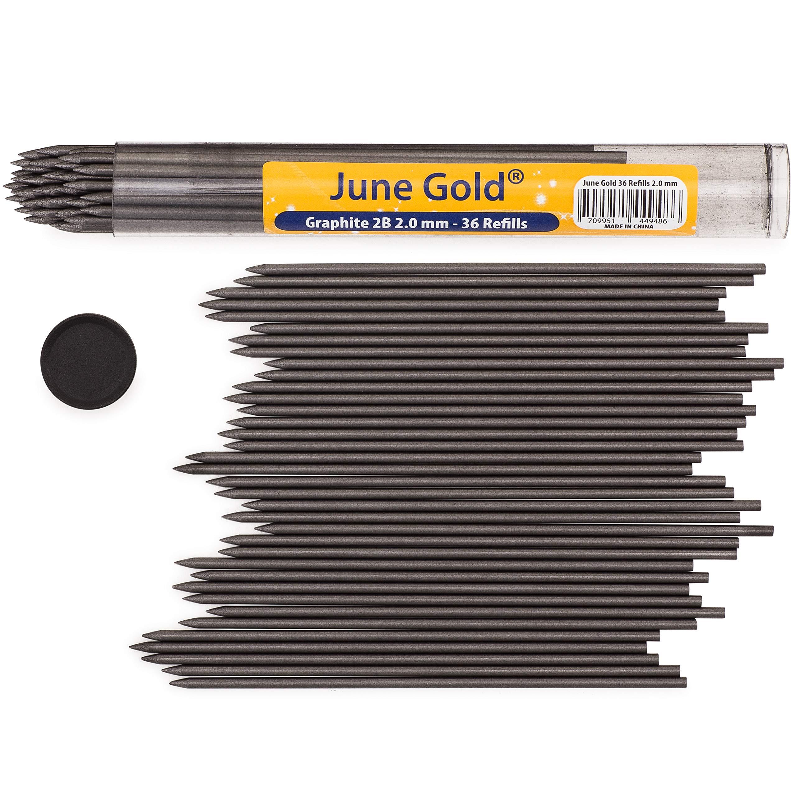 SNNplapla 12pcs 5.6MM HB//2B//4B//6B//8B Mechanical Leads Auto Clutch Pencil Holder Refills 2B 2pcs