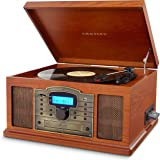Crosley CR7002A-PA Troubadour Turntable with USB/SD Card Reader to Transfer Albums to Memory Card, Paprika
