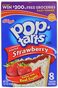 Kelloggs Frosted Strawberry Pop Tarts 416 g (Pack of 2)