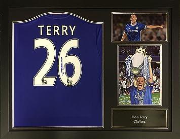 John Terry Chelsea firmado y enmarcado camiseta de fútbol con COA y la prueba. Profesional enmarcado y listo para colgar.: Amazon.es: Deportes y aire libre