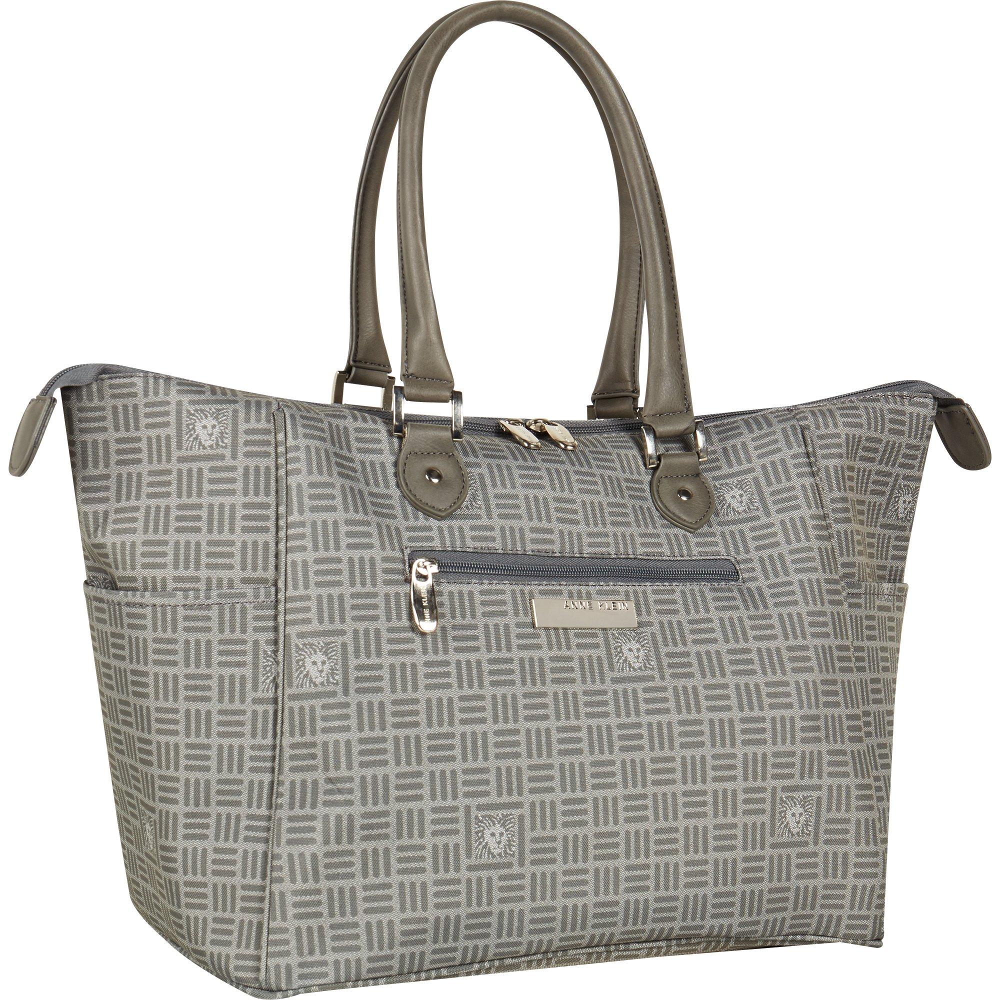 Anne Klein Perfect Travel Tote Bag, Grey Lion