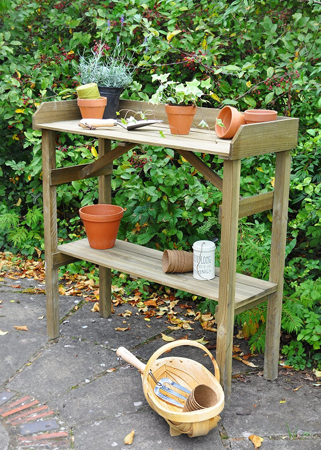 Forest Potting Table Forest Garden POTBEN1HD