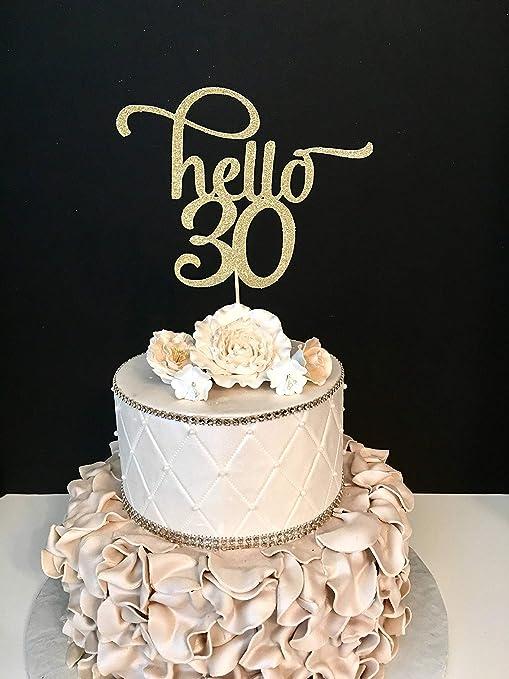 Monsety Decoración para Tarta de Hello 30 y 30 cumpleaños ...