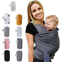 Fastique Kids® Tragetuch - elastisches Babytragetuch für Früh- und Neugeborene inkl. Baby Wrap Carrier Anleitung