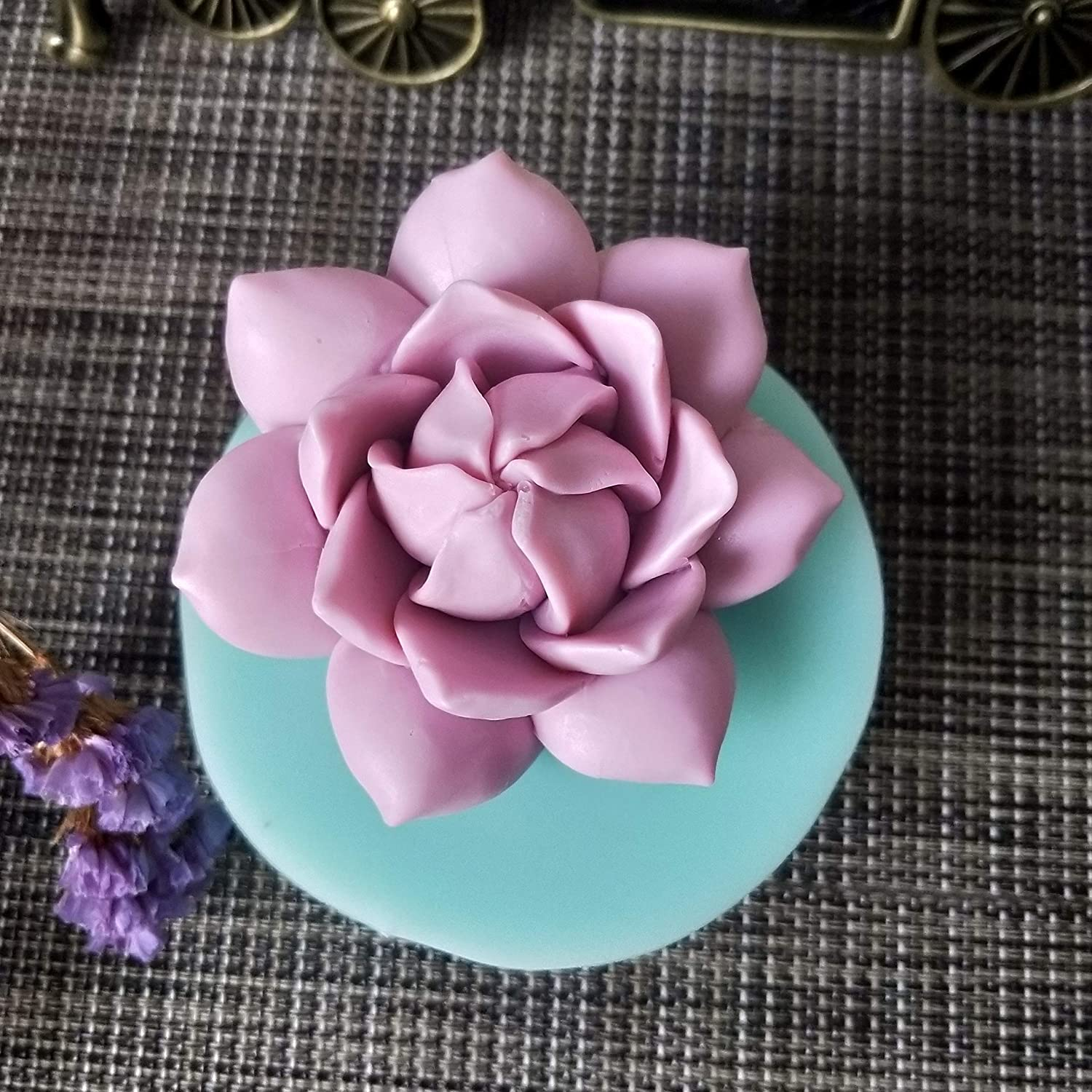 Allforhome Valley Lily Flower 3D Silicone Craft Art Resin Polymer Clay Soap DIY Mould Handmade soap molds Candle Soap Making Mold