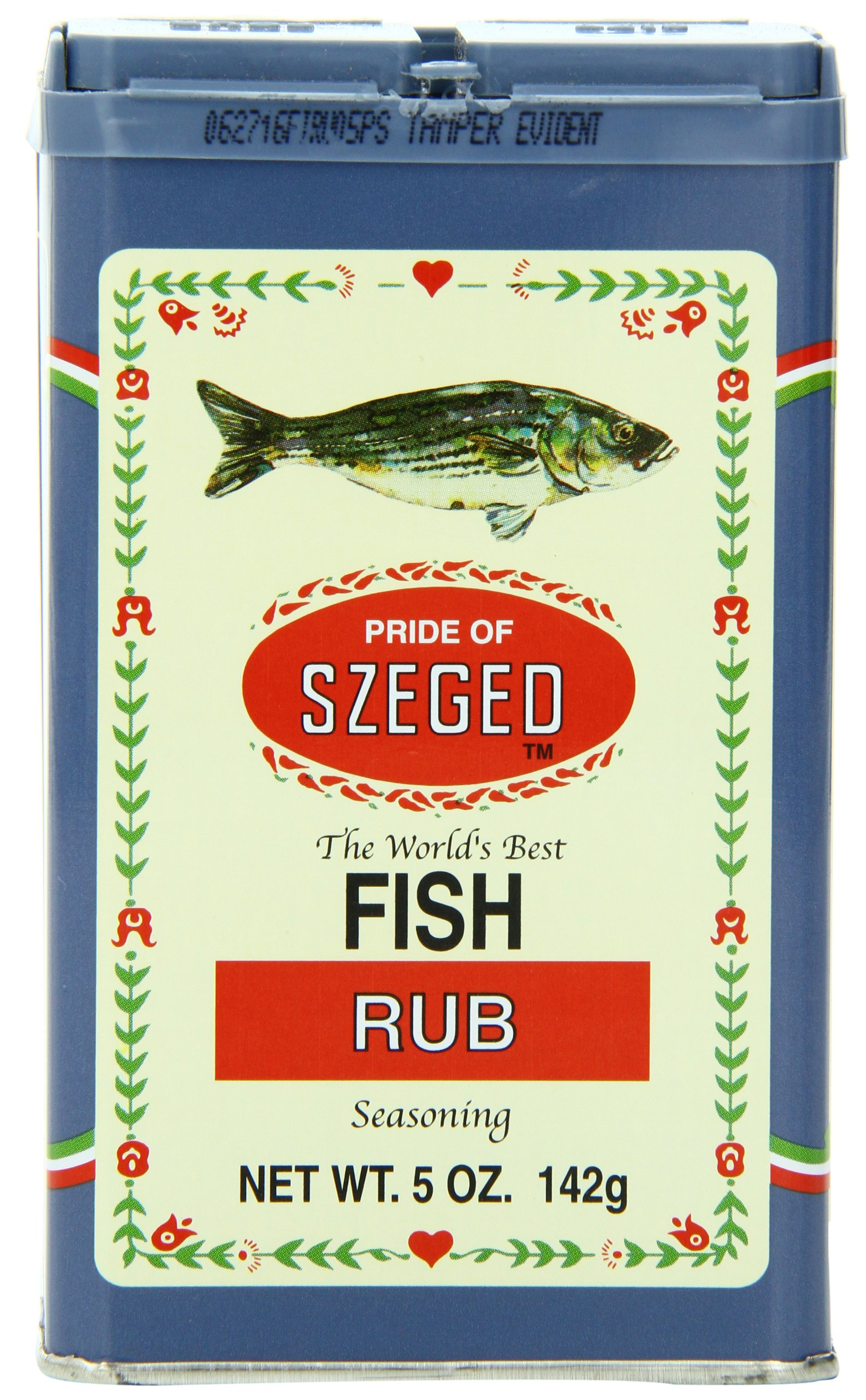 Szeged Fish Rub, 5-Ounce Tins (Pack of 6)