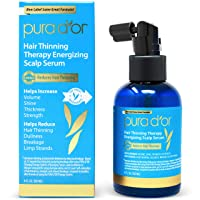PURA D'OR Hair Thinning Therapy Energizing Scalp Serum Revitalizer (4oz) with Argan...
