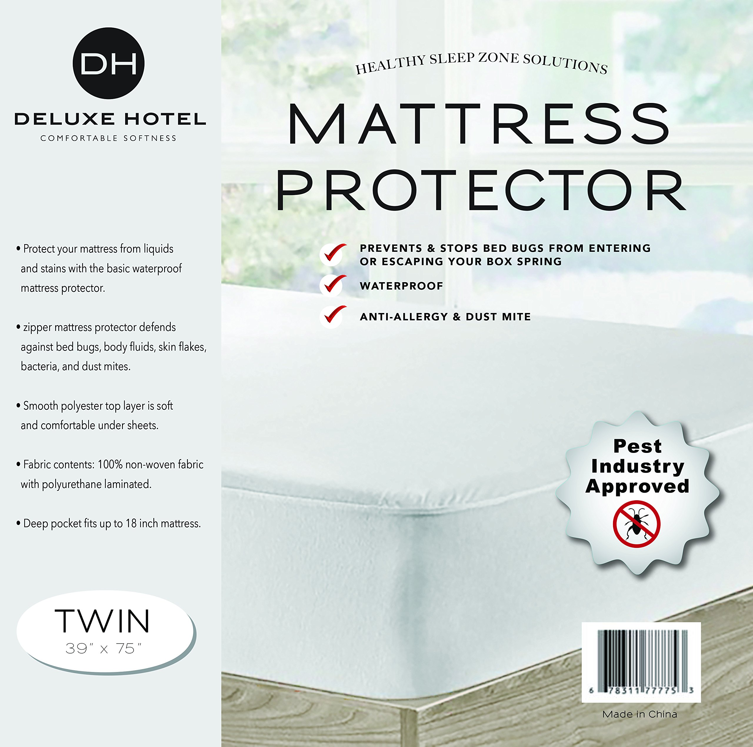 Ultimate Bed Bug Blocker Zippered Mattress Protector (Twin) by CrystalTowels