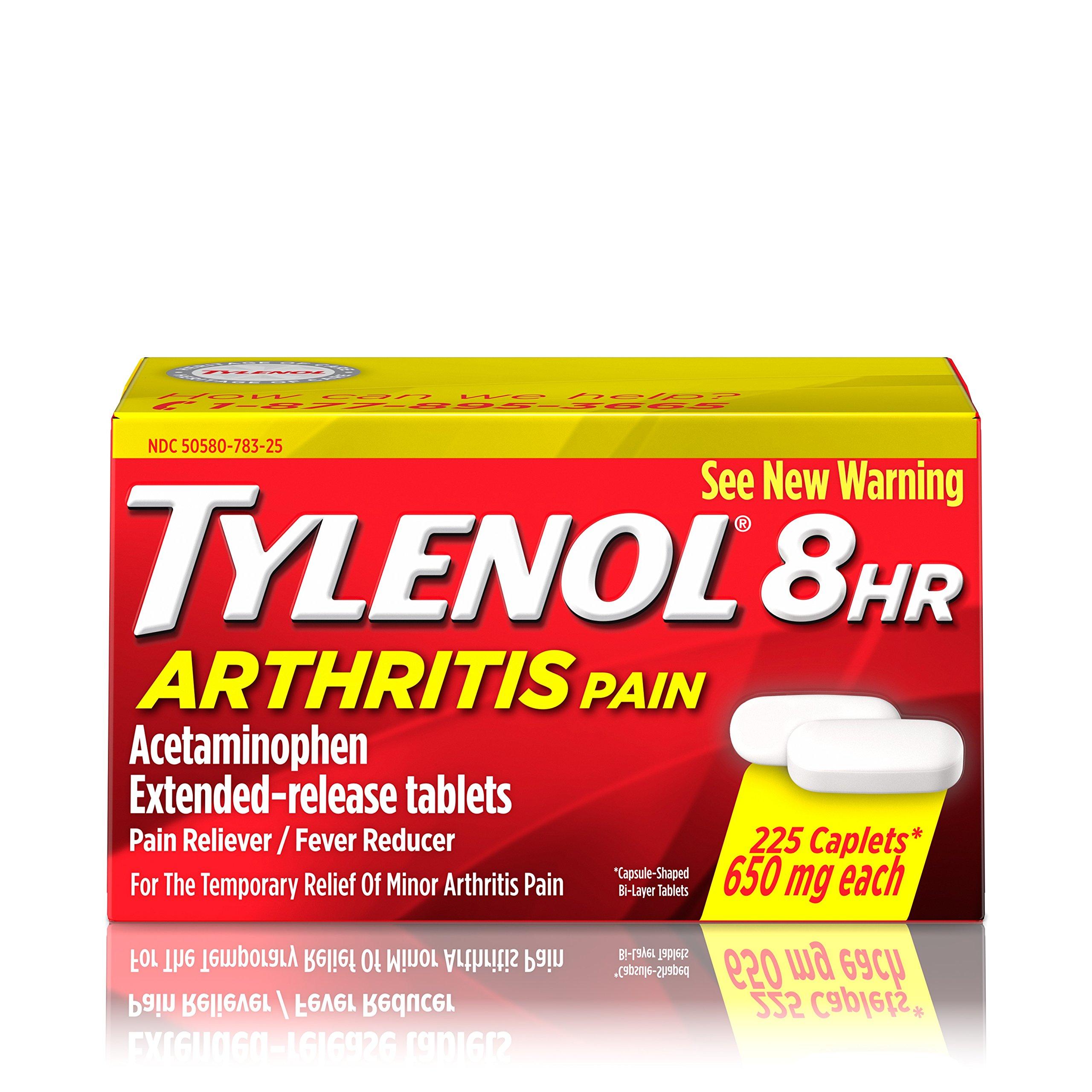 Tylenol 8 HR Arthritis Pain Extended Release Caplets, 650 Mg, 225 Count