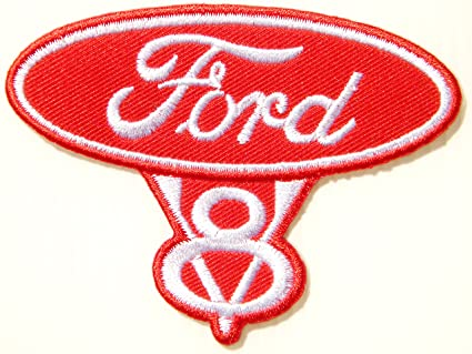 Amazon Com Ford V8 Vintage Logo Sign Badge Emblem Car Racing Patch