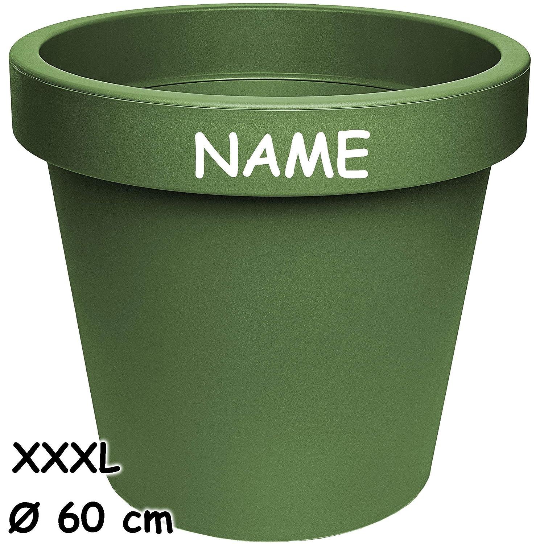inkl /Übertop.. /Ø 60 cm XXXL Gross Name alles-meine.de GmbH Design Kunststoffk/übel rund gro/ßer Blumentopf // Pflanzk/übel // Pflanzschale 100 Liter bunter Farb-Mix