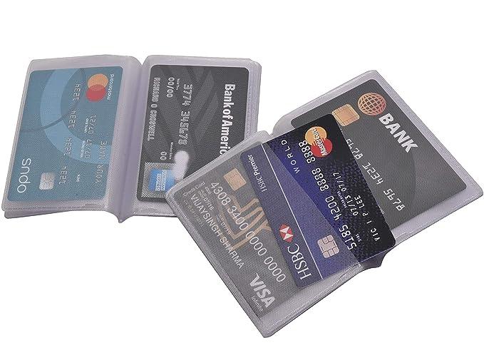 Amazon.com: Cartera de plástico con 2 soportes para tarjetas ...