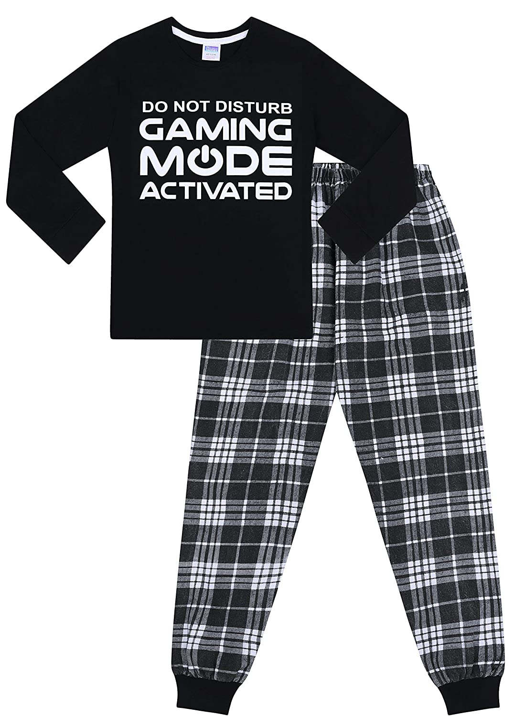 Do Not Disturb Gaming Mode Activated Woven Long Pyjamas