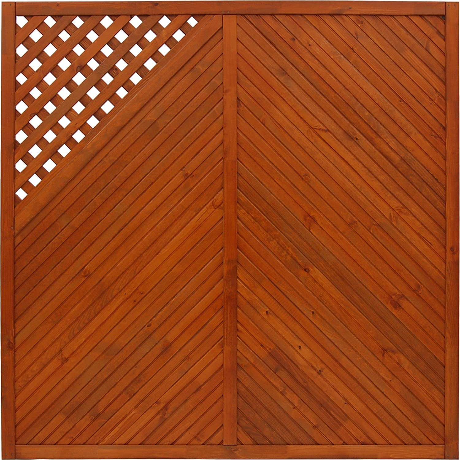 Andrewex wooden fence 180 x 180, varnished, teak, privacy, fencing panel, garden fence