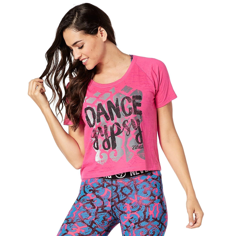 Zumba Fitness Damen Dance Gypsy Tee Frauentops, Shocking Pink, XXL Z1T01204