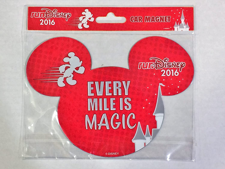 Run Disney Disneyland 2016 - Mickey - Car Fridge Magnet Every Mile is Magic.