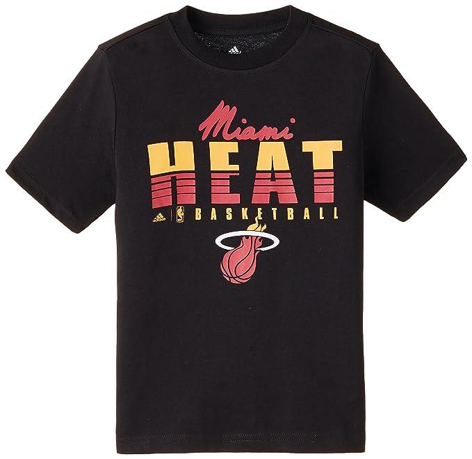 adidas Camiseta Fnwr NBA Miami Heat Negro/Rojo 140