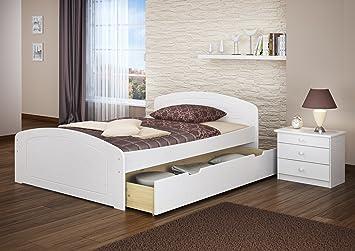 Funktionsbett 140x200 mit lattenrost und matratze  Erst-Holz® Funktionsbett 140x200 Doppelbett + Matratze Rollrost ...