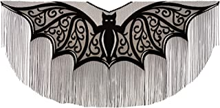 "product image for Heritage Lace Halloween Bats Fringe Poncho Costume , 57"" x 57"", Black Lace, 1 Size Fits Most"
