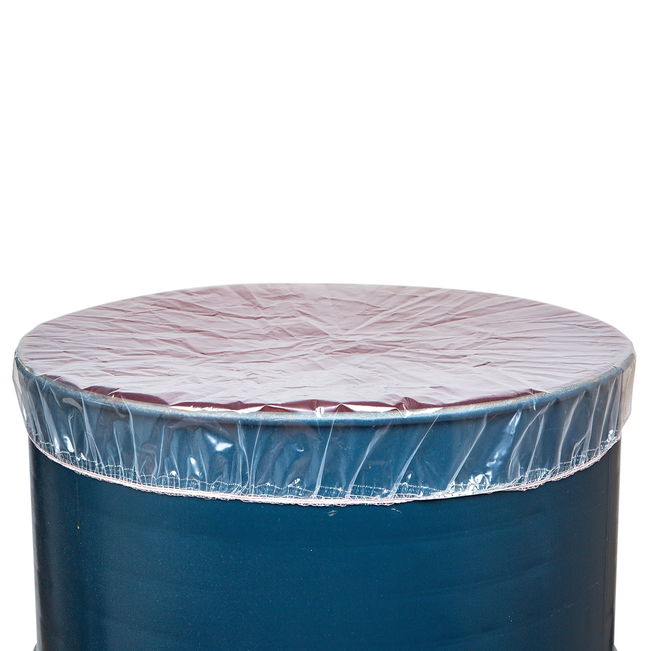GOZE Elastic Drum Barrel Lid Cover - Snug fit - Easy Slip on/Off - 4ml Thick - Made in USA (24 inch 30 Gal, 25 Pcs)