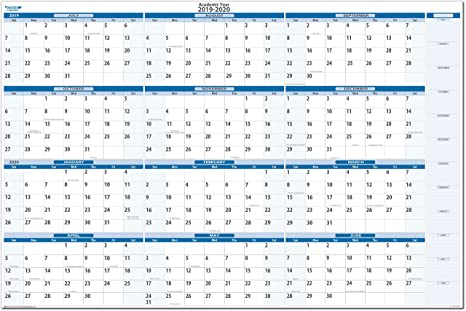June 2019 To June 2020 Calendar Printable.Earth Green Academic Erasable Wall Calendars By Planetsafe Calendars 2020 2021 Horizontal 24 X 36