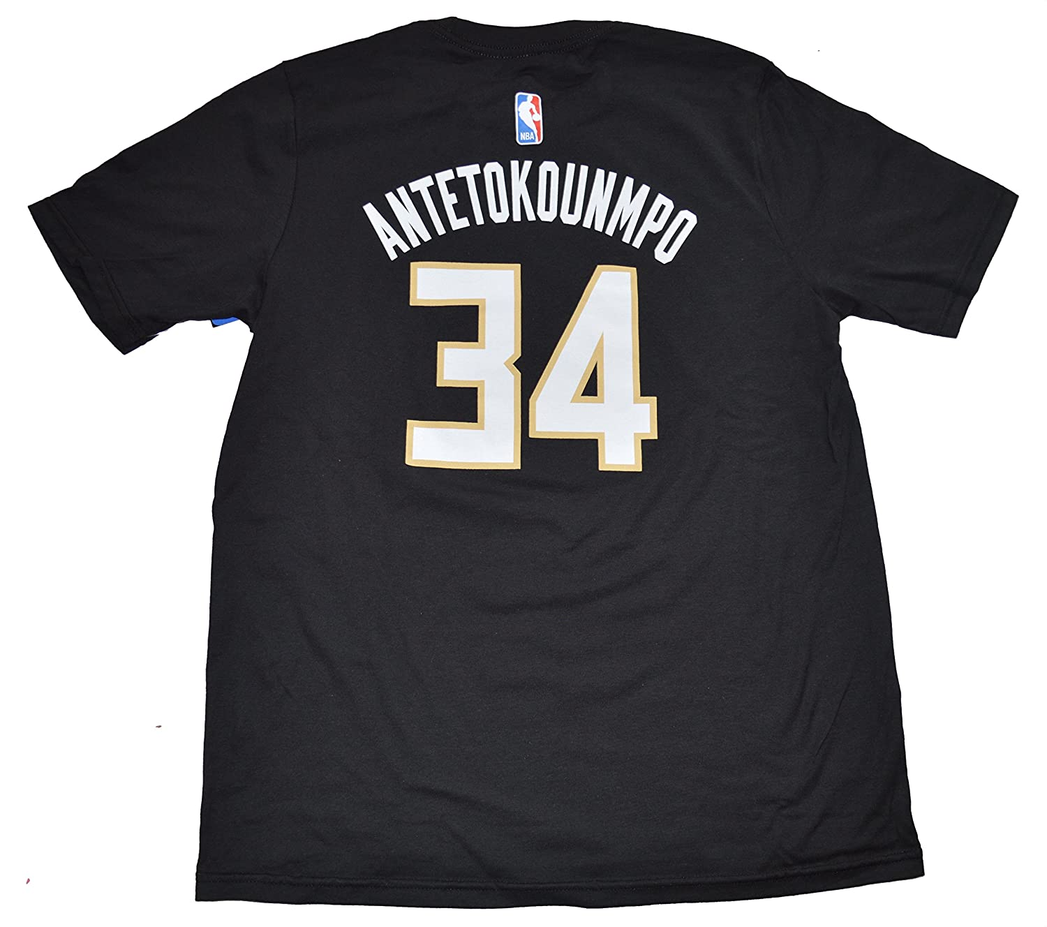 Amazon.com   Outerstuff Giannis Antetokounmpo Milwaukee Bucks Youth Black  Name and Number Player T-shirt   Sports   Outdoors e919c6196