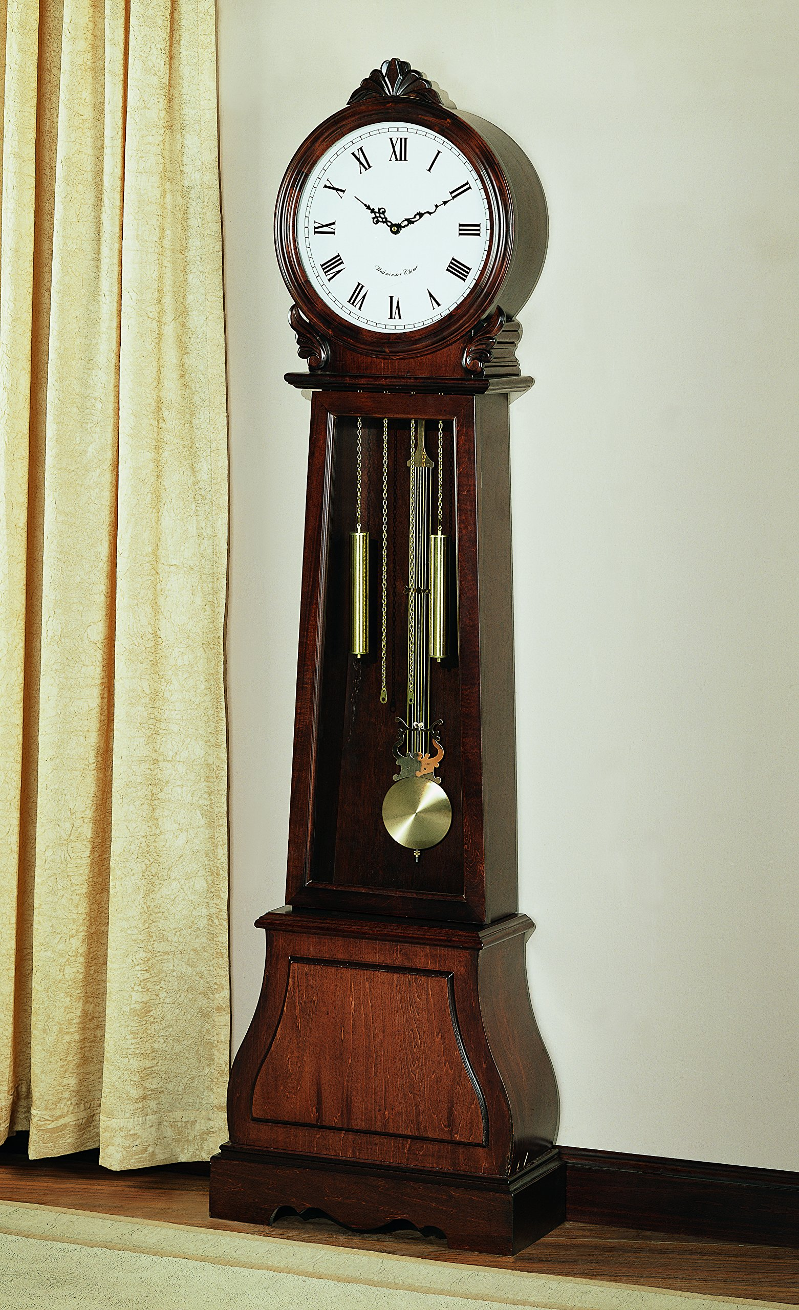 Coaster Home Furnishings 900723 Transitional Grandfather Clock, Brown by Coaster Home Furnishings
