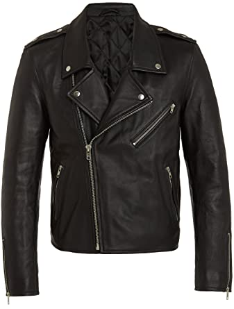 d80b3c2f6 Veste Mode Homme Cuir Noir - Blouson Designer Fashion Biker Rock ...