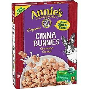 Annie's Organic, Gluten Free, Cinnabunnies Cinnamon Cereal, 10 oz Box