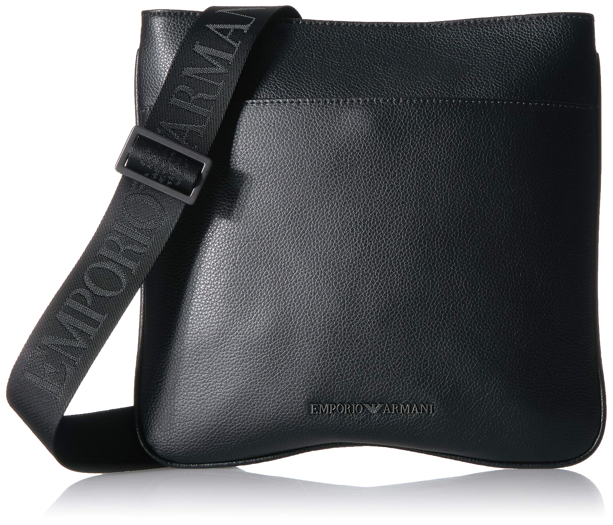 Emporio Armani Crossbody Flat Messenger Bag, Black