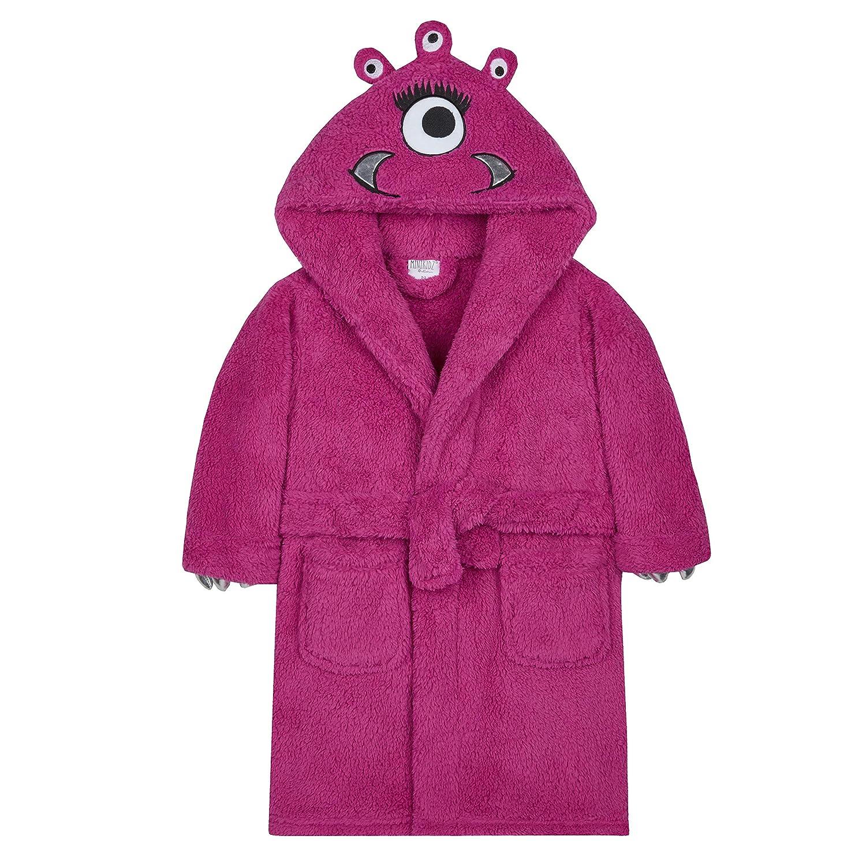 Metzuyan Girls Little Monster Snuggle Fleece Dressing Gown