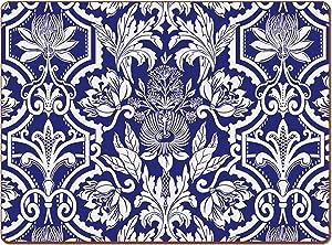 Cala Home 4 Premium Hardboard Placemats Table Mats, New York Botanical Garden Design Jardinage 81943
