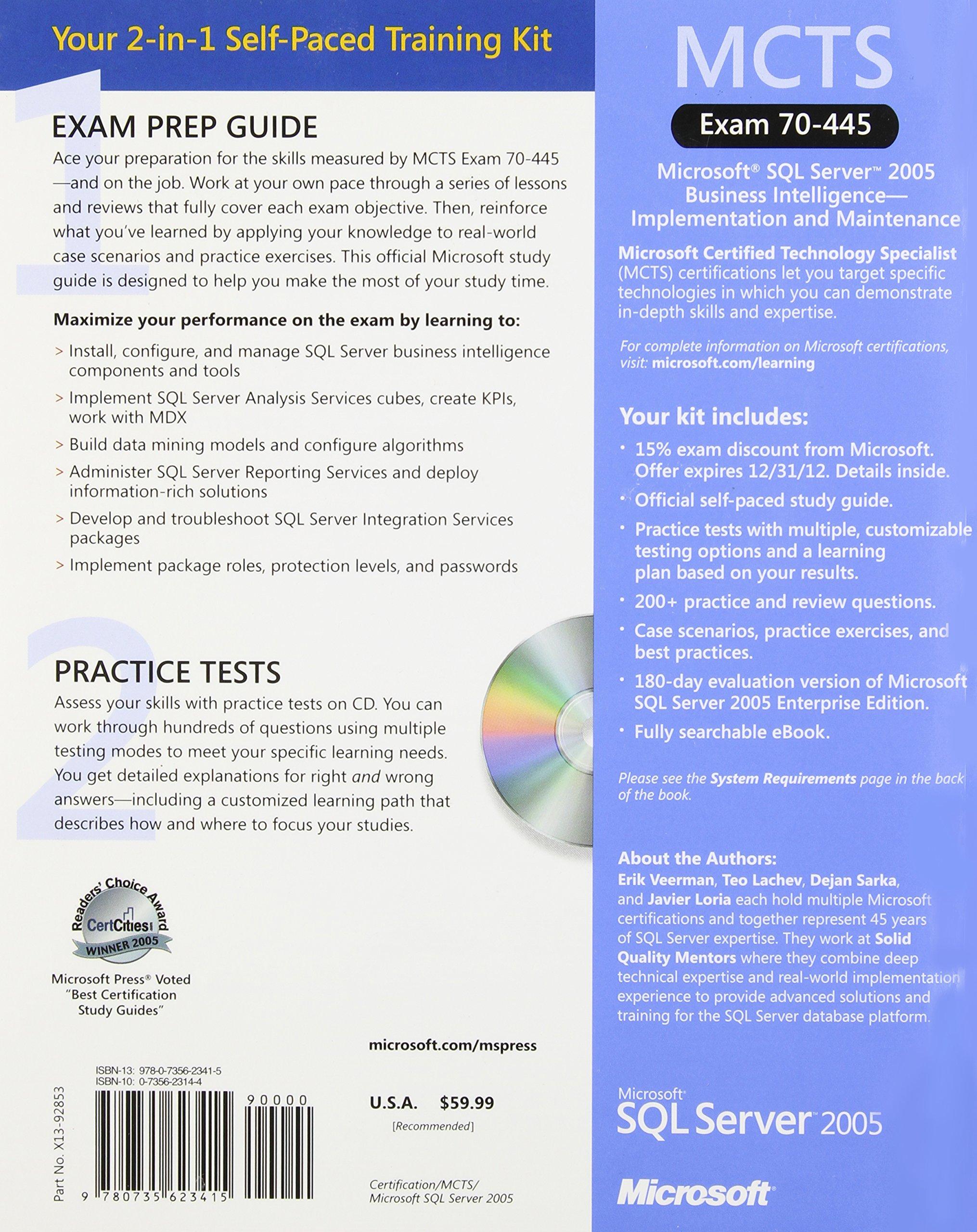 Buy Mcts Self Paced Training Kit Exam 70 445 Microsoft Sql Server
